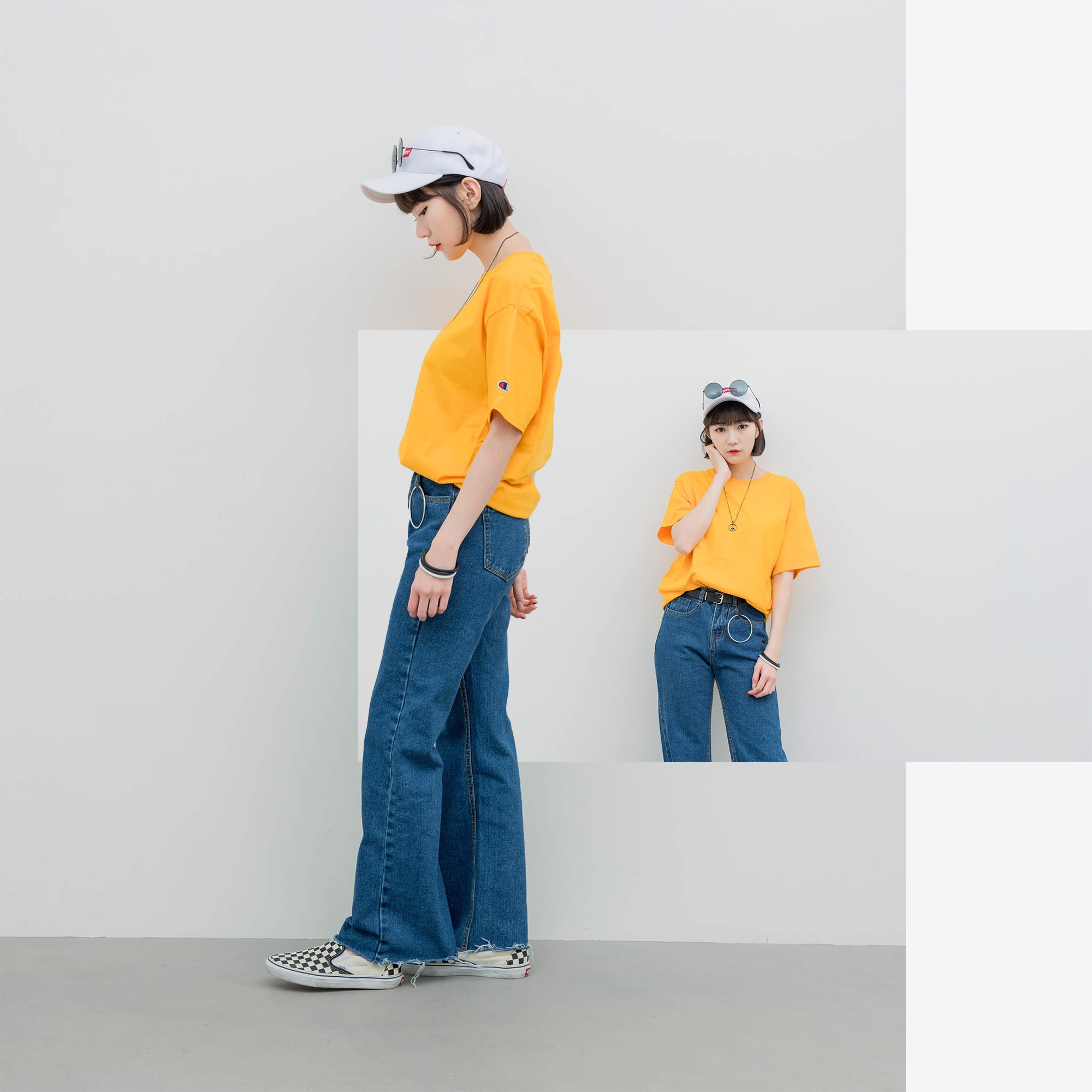 Champion T425 T-Shirt 'Yellow'
