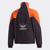 adidas Big Trefoil Abstract Track Top - Black/Energy Orange