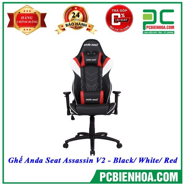 Ghế Anda Seat Assassin V2 - Black/ White/ Red