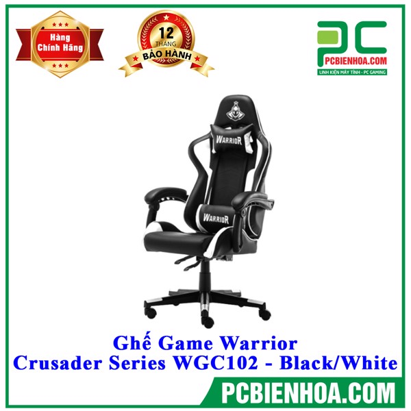 Ghế Game Warrior - Crusader Series WGC102 - Black/White