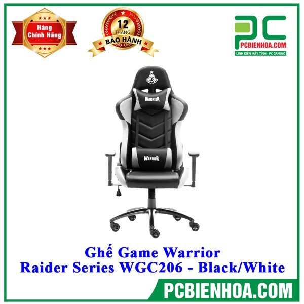 Ghế Game Warrior Raider Series WGC206 - Black/White