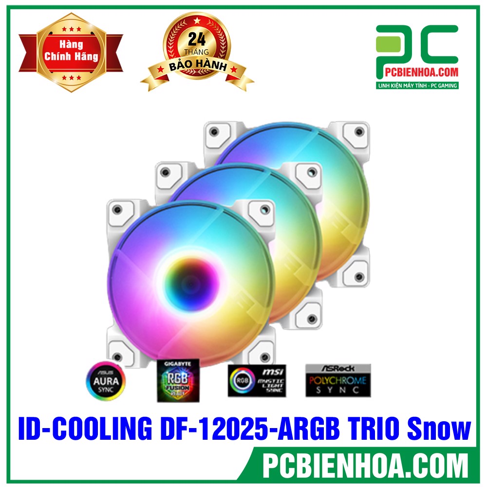 FAN CASE ID-COOLING DF-12025-ARGB TRIO Snow 3pcs Pack