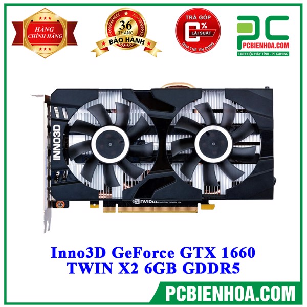 VGA Inno3D GeForce GTX 1660 TWIN X2 6GB GDDR5