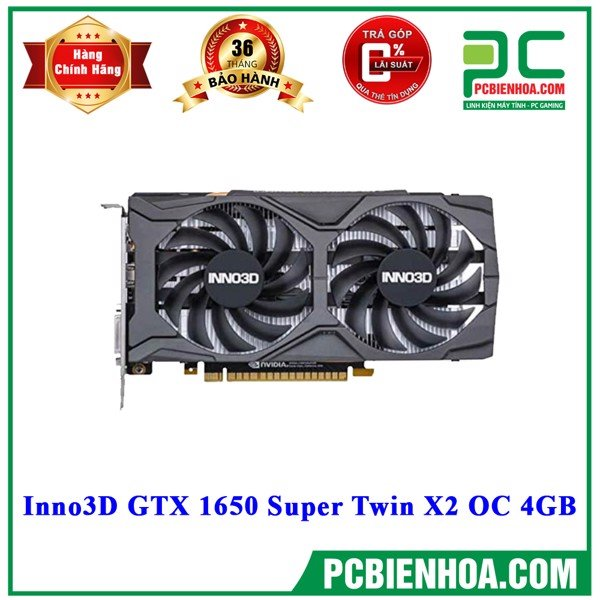 VGA Inno3D GTX 1650 Super Twin X2 OC 4GB