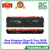 Ram Kingston HyperX Fury RGB 16GB (2x8GB) DDR4 Bus 3200MHz