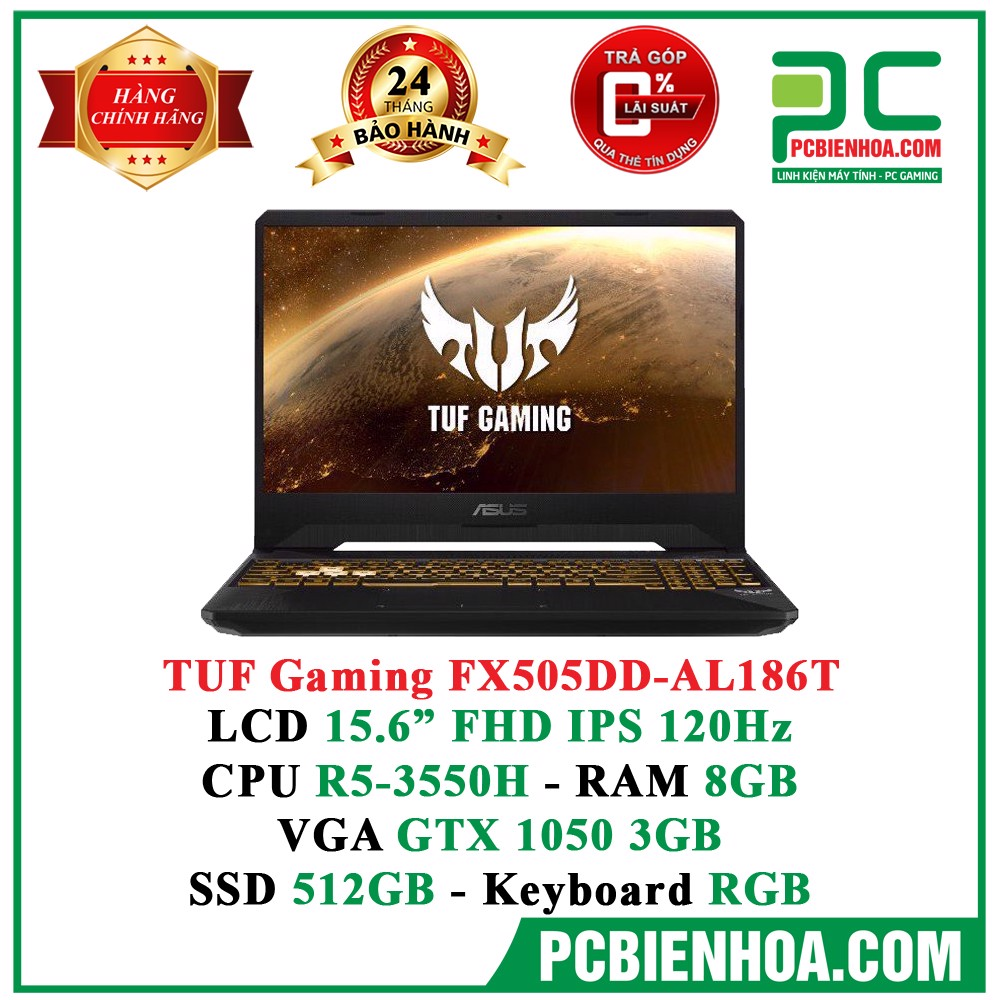 Laptop Asus TUF Gaming FX505DD-AL186T