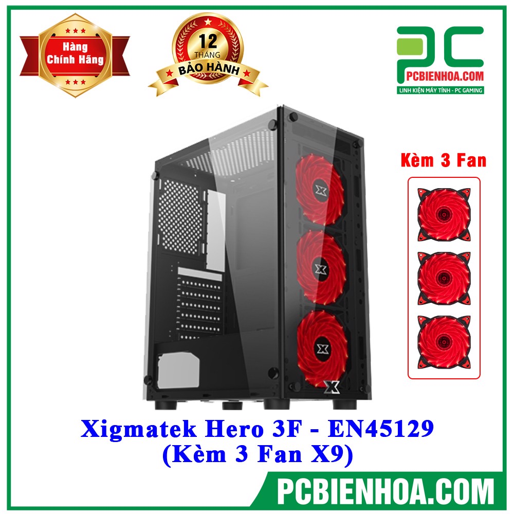 Case Xigmatek Hero 3F - EN45129 (Kèm 3 Fan X9)