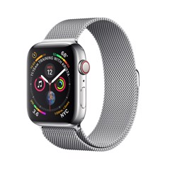 [Full Box] Apple Watch 5 44mm (4G) ESIM Thép Trắng – Dây Milanese Loop