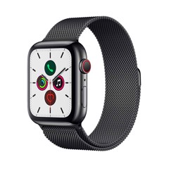 [Full Box] Apple Watch 5 44mm (4G) ESIM Thép Đen – Dây Milanese Loop (J/A)