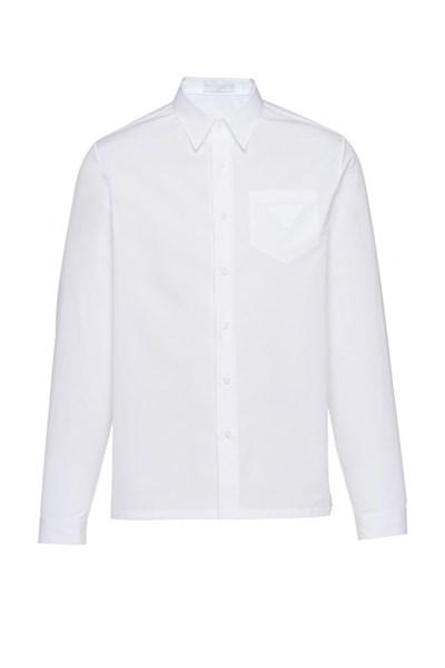 Sơ Mi Prada Trắng Tag Túi Bianco Sc541