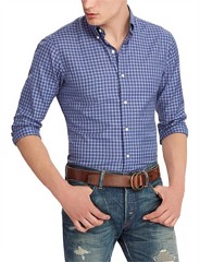 LONG SLEEVE SPORT SHIRT TWILL