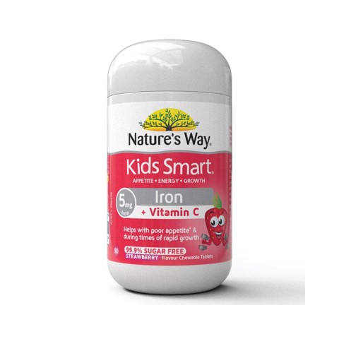 Nature's Way Kids Smart Iron Chewable 50 Tablets