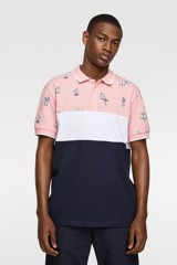 CONTRAST COLOUR BLOCK POLO SHIRT