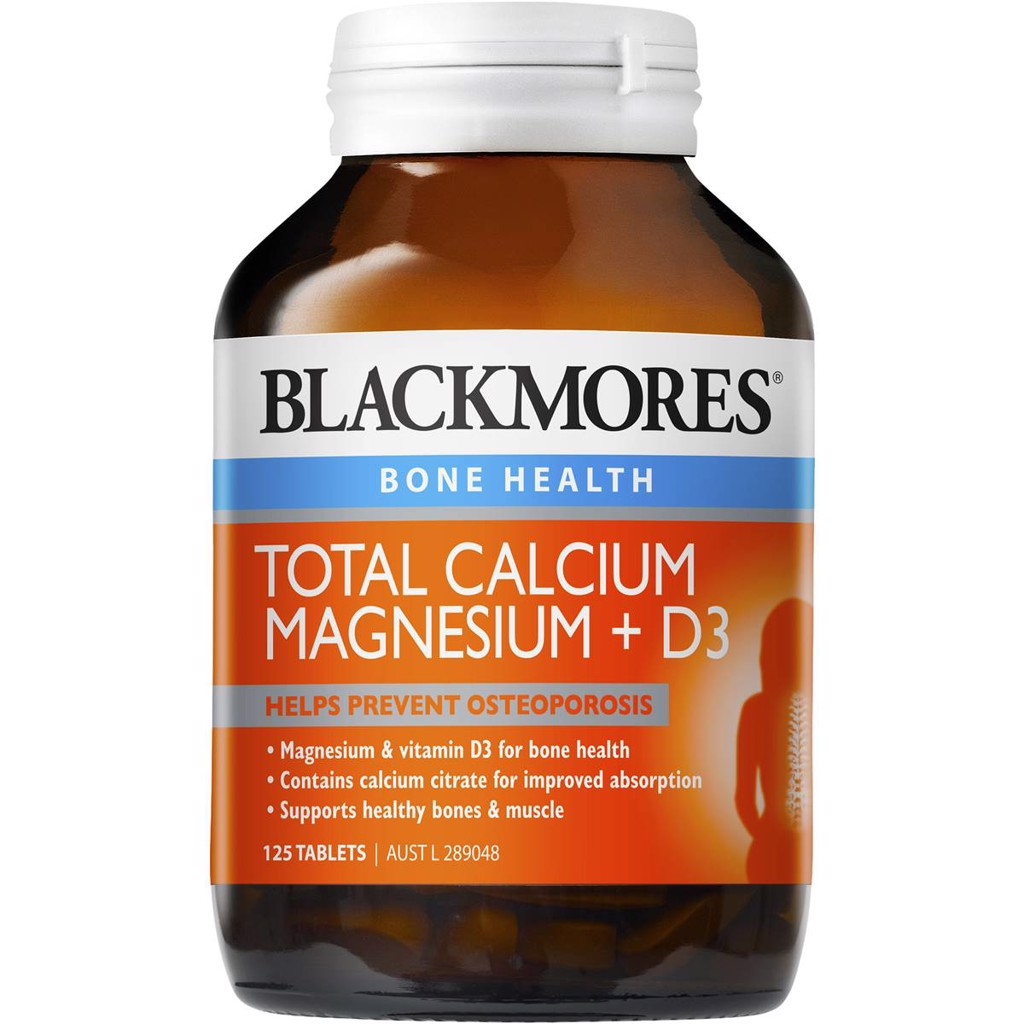 Blackmores Total Calcium + Magnesium + D3 Tablets Value Pack 125 pack