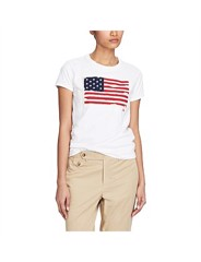 Short Sleeve Flag Tee Knit