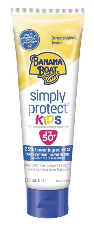 Banana Boat SPF 50+ Simply Protect Kids Lotion 270ml
