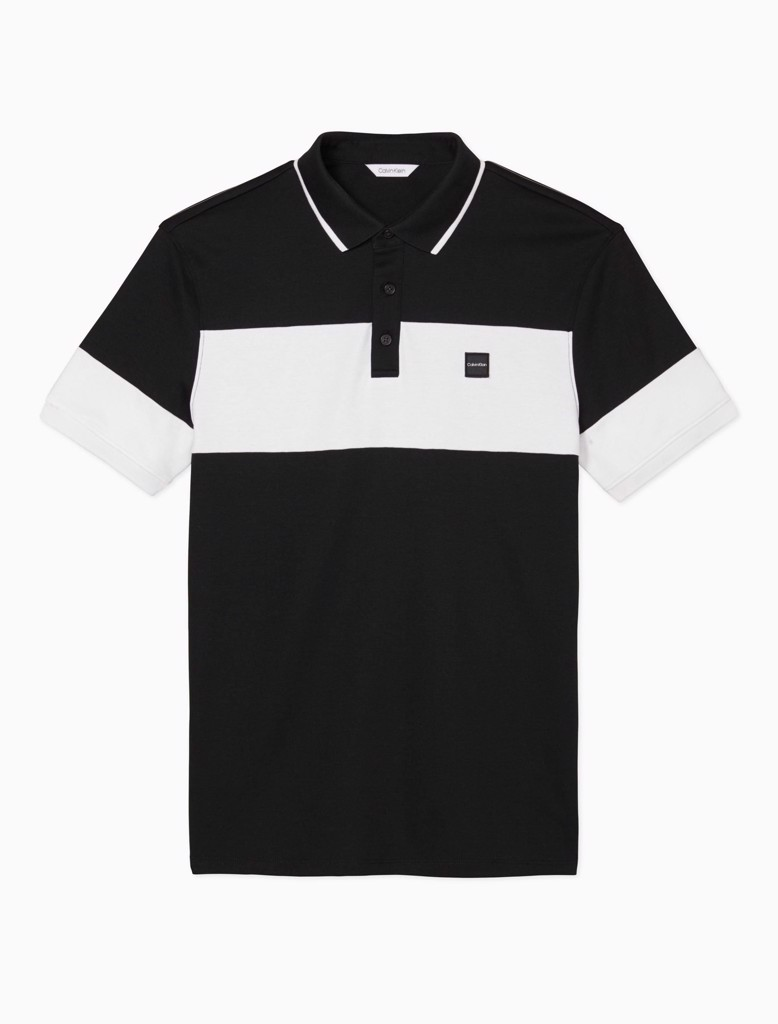SHORT SLEEVE RIB COLLAR POLO
