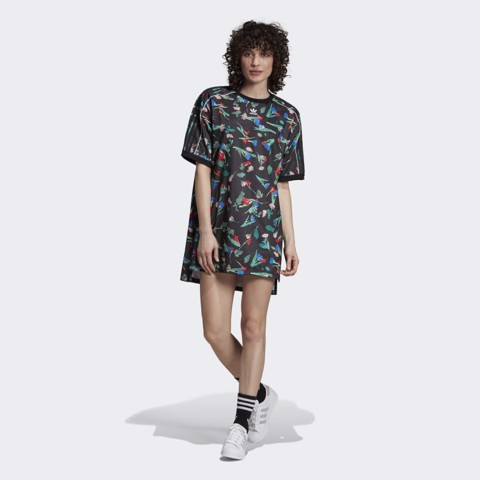 FLORAL ALLOVER PRINT TEE DRESS - ÁO NỮ ADIDAS