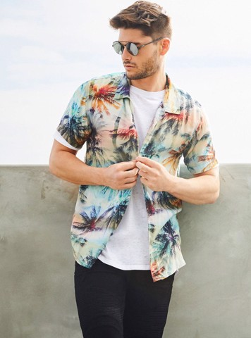 PALM PRINT SHIRT - ÁO NAM
