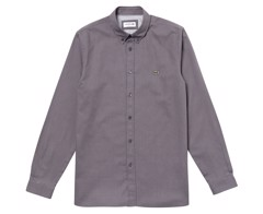 Áo Lacoste Men's Long Sleeve Jacquard Dot Slim Fit Shirt - Nimbus