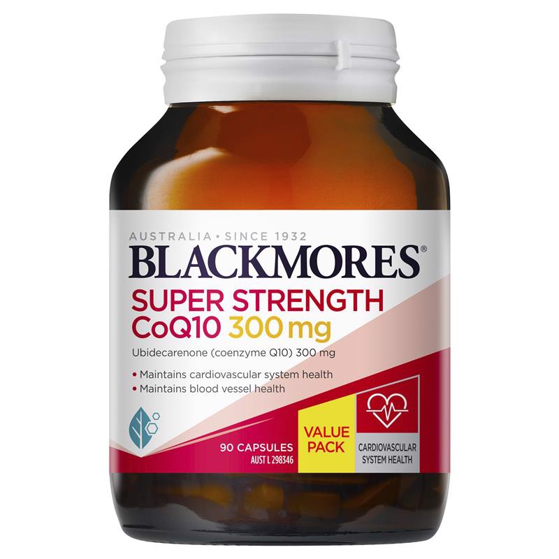 Blackmores Super Strength CoQ10 300mg Exclusive Size 90 viên
