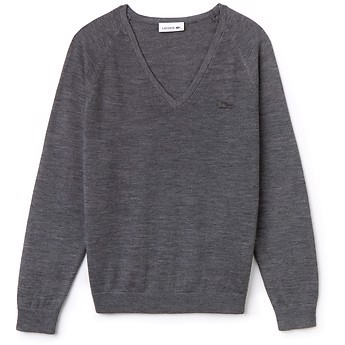 WOMEN'S TONAL CROCODILE DEEP V WOOL KNIT