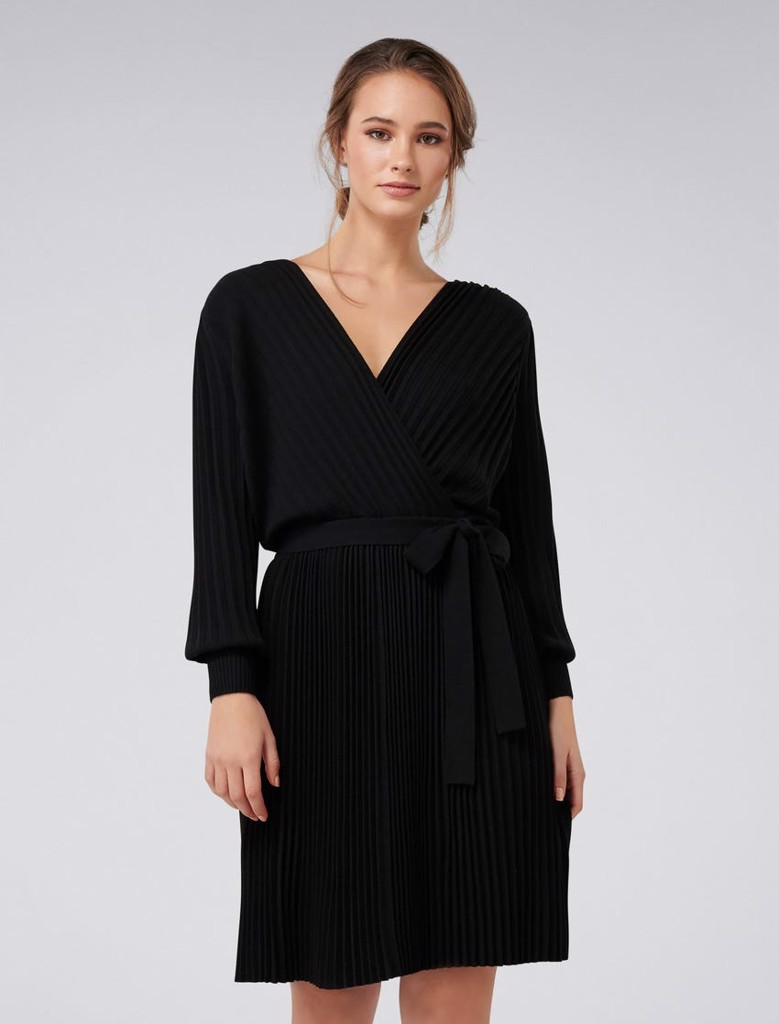 Cindy Pleat Knitted Dress
