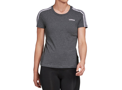 Áo nữ Adidas Women's Essential 3-Stripes Tee / T-Shirt / Tshirt - Dark Grey Heather/Purple Tint