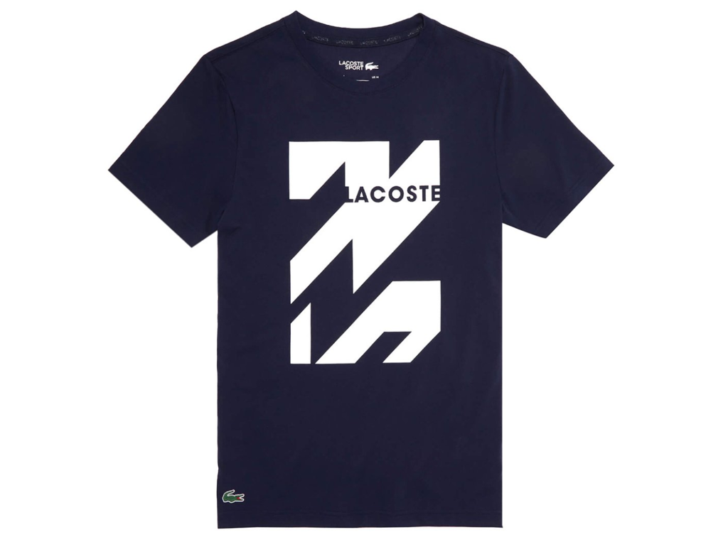 Áo Lacoste Men's Tennis Technical Jersey Tee / T-Shirt / Tshirt - Navy Blue/White