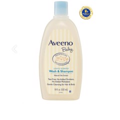 Sữa tắm gội cho bé Aveeno Baby Daily Moisture Lightly Scented Wash & Shampoo 532mL