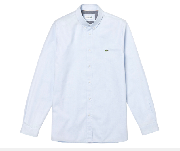 Áo Lacoste Men's Long Sleeve Jacquard Dot Slim Fit Shirt - Hemisphere