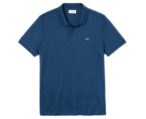 Áo Lacoste Men's Classic Stripe Interlock Polo Shirt - Navy Blue