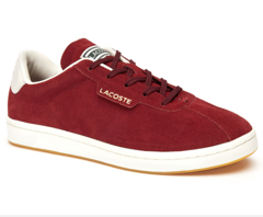 Giày Lacoste Women's Masters 319 1 SFA Sneakers - Dark Red/Off White