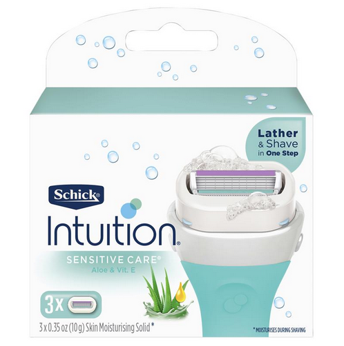 Schick Intuition Naturals Sensitive Care Cartridges 3pk