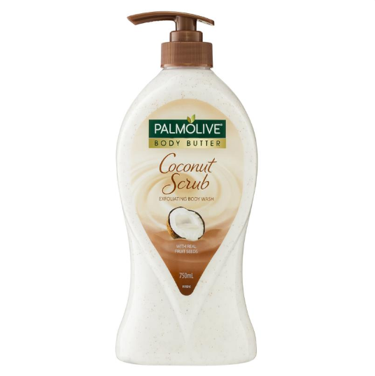 Sữa tắm Palmolive Body Butter Coconut Scrub Jojoba Exfoliating Body Wash 750mL