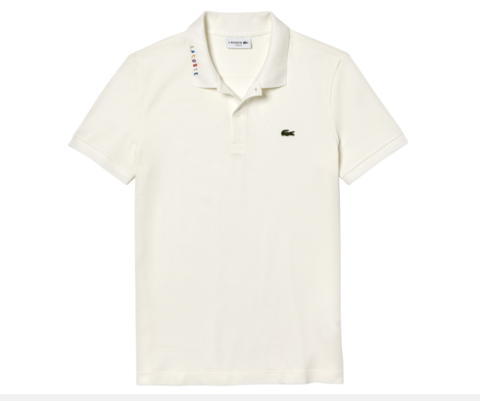 Áo Lacoste Men's 90s Logomania Slim Fit Polo - Flour