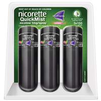 Nicorette Quit Smoking QuickMist Mouth Spray Cool Berry Triple 150 Sprays (13.2mL x 3)