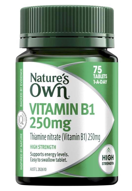 Nature's Own Vitamin B1 250mg - Vitamin B - 75 Tablets