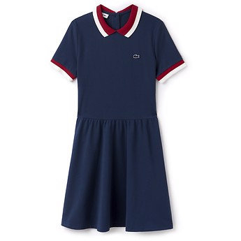 WOMEN'S POLO DRESS WITH CONTRAST COLLAR