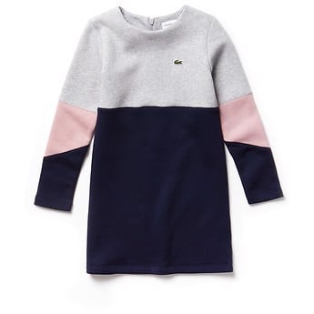 KIDS' COLOUR BLOCK SWEAT DRESS