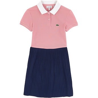 KIDS' COLOUR BLOCK POLO DRESS
