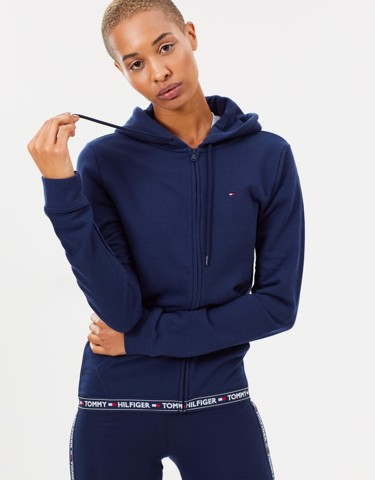 Athletic Nostalgia Zip-Through Hoodie