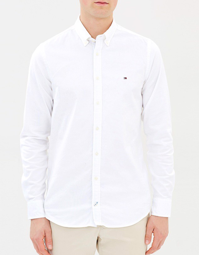 Stretch Slim Oxford Shirt