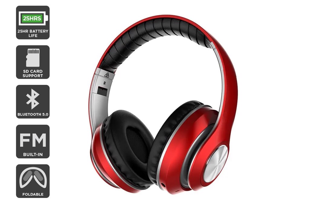 Kogan Pro Urban II Wireless Headphones (Metallic Red)