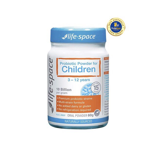 Men vi sinh Life Space Probiotic Powder For Children  60g