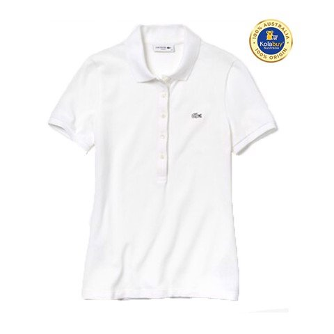 WOMEN'S 5 BUTTON SLIM STRETCH CORE POLO