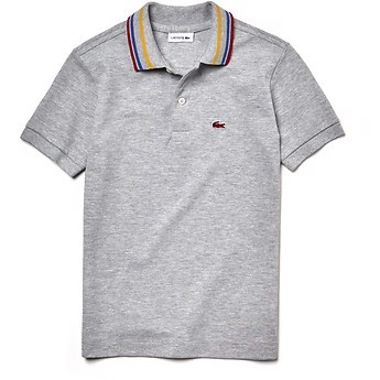 KIDS' CONTRAST COLLAR POLO