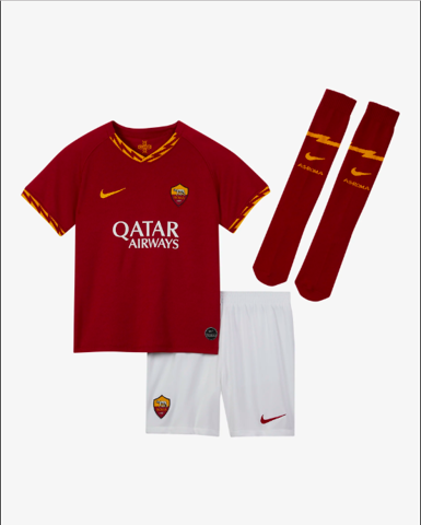 Younger Kids' Football Kit, A.S. Roma 2019/20 Home