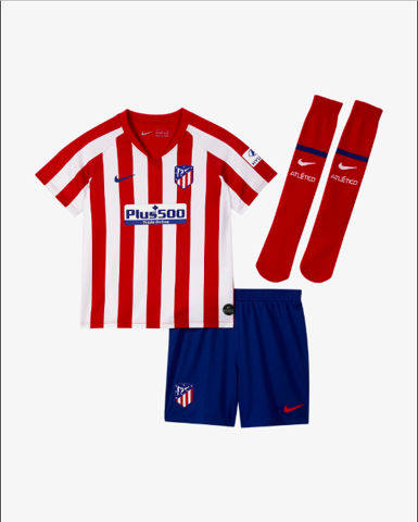 Younger Kids' Football Kit: Atlético de Madrid 2019/20 Home