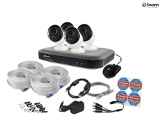 Swann 8 Channel 5MP Super HD 2TB DVR with 4x Heat & Motion Sensing Night Vision Cameras (SWDVK-849804)